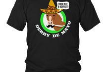 Derby De Mayo Kentucky Horse Race Sombrero Mexican T-Shirt