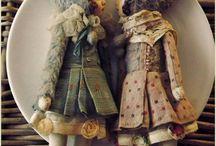 textil figurák, babák