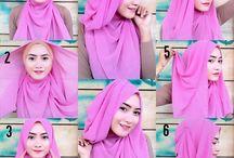 kreasi hijab pesta