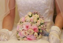 Fresh Flower Bouquets / Freshly arranged wedding flower bouquets