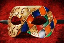 Red Venetian masquerade masks / Just Posh Masks selection of Venetian masquerade masks all decorated in red