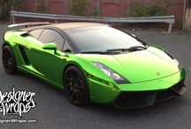 Green Chrome Lamborghini Gallardo Car Wrap / First Color Chrome Wrap in the U.S. by Designer Wraps, in NJ on this Lamborghini Gallardo with Matte Black Top.