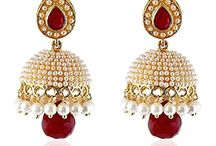 Attractive Bollywood Inspired Wedding Wear Jhumki Jhumkas