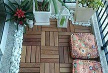 Interior stone/flowers/decor