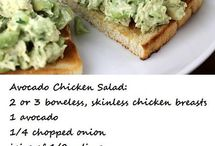 Salads: chicken or meat