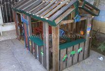 Игровой дом из поддонов