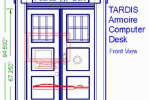The Tardis Desk Project / I'm thinking of making a desk for my daughter in the shape of the Tardis from Dr. Who. I'm In the very early inspiration phase of things.