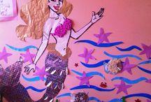 Mermaid craft and art ideas