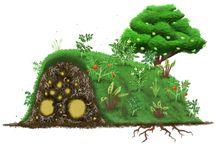 Jason / Garden mound from logs.
