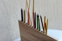 Drewniane przyborniki