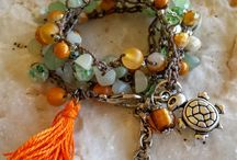 Bohemian Crochet bead necklace/Bracelet by me