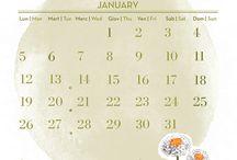 Calendario Maternatura 2015 / #maternatura #calendario #2015