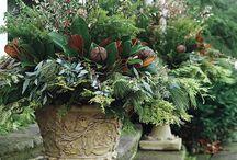 Winter Porch Pots/ Outdoor Decor