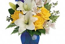 Bold & Blue Flowers / Floral arrangements bold colours, cobalt blue mixtures