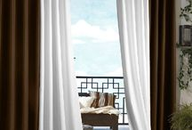 Patio Ideas on a Budget / Out door curtains and drapes help create privacy and ambiance in your yard.