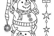 Värityskuvia: joulu/talvi