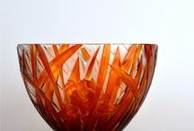 Glass - Verre / The acceptance of two-layered glass, we created a luxurious collection of mostly with floral motifs.