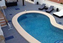 Pool area floor