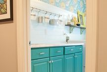 Laundry Room Makeovers / It's the one place where I feel like I can experiment and go a little crazy.  Can't wait.