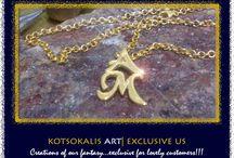 Kotsokalis Art|Name & Letter / Ring ,Bracelet,Pendants & Charms from Silver ''gold plated''
