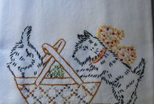Embroidery simple strokes