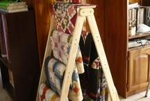 quilt ladder ideas / by Ina