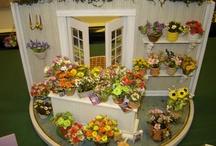 miniature flower shop and displat