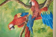 pintura em tela paisag. amazônica