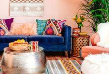 Peach Bohemian Room