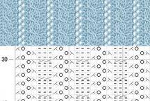 wzory ściegów szydełko
