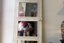 A door... a mirror... whatever creativity suggest! / Não é apenas uma simples porta... É uma porta antiga, querendo... velha, a quem foi dada carta de alforria...  Pode ser uma porta, pode ser um espelho-que, na horizontal e colocado num hall, sala de jantar... whatever, dá dimensão e beleza ao ambiente-, pode ser uma cabeceira de cama-adicionando, quiçá apliques-, tornando o espaço mais romântico, mais cosy...  As possibilidades são finitas, porém, imensas... :)