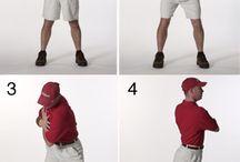 Golfers strech