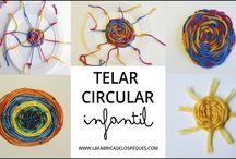 Telar circular infantil casero