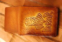 Dakar 2018 leather wallet, for him,biker,handtooled,custom,leatherworkspl