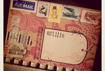 Mail Art / Mail art created with Darkroom Door Rubber Stamps!