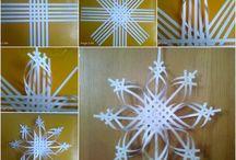 3D Snøstjerne Papir