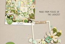 Freebies Digital Scrapbooking Clusters / by Ania Kozlowska-Archer