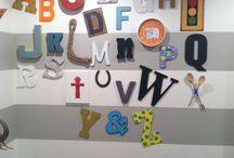 Alphabet Wall / by Jovita @ peawink