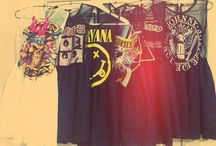 Grunge and vintage clothing / null