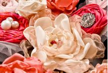 fabric and paper flowers / by Deb Stone-Haga