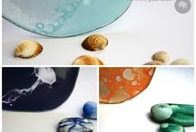 On the Beach , nautical interiors / Beach dinnerware for coastal, nautical or tropical style interiors designed for the hospitality business by www.the-glass-co.com. Feel free to contact us at info@myglassstudio.com for any assistance!