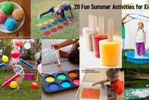 Summer Activities For Kids / School is almost out for the summer and it's time to start planning a fun break for the kids! Find inspiration for games, crafts and activities here.