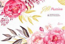 розовый- персиковый