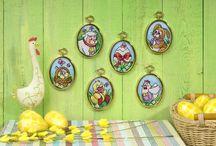 Wielkanoc / Haftowane świąteczne dekoracje