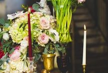 Color: Gold Red and Blush Wedding / Wedding color combination of gold, red and blush