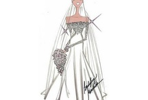 Kate Middleton's wedding dress designs / Designs for the dress.