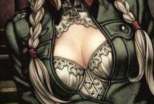 Anime military girl