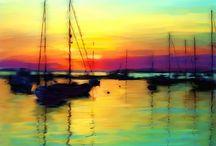 art - sunset