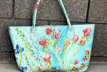 Wearable Art / floral fashion wearable art with artwork by Andrea de Kerpely-Zak