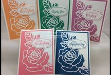 Stampin up die cards